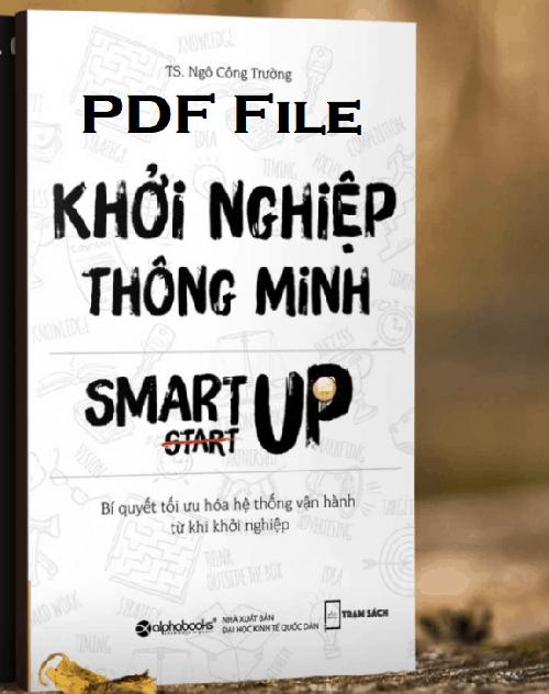 khoi nghiep thong minh pdf