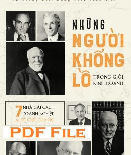 nhung nguoi khong lo trong gioi kinh doanh pdf