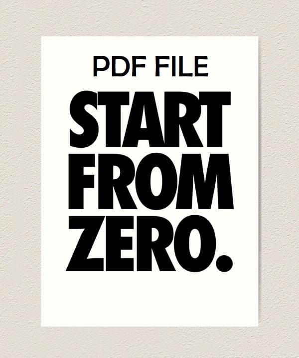 start from zero pdf