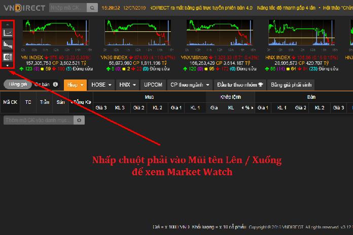 xem market watch vndirect